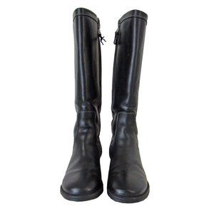 L.L. Bean Black Leather Zippered Riding Boots 7